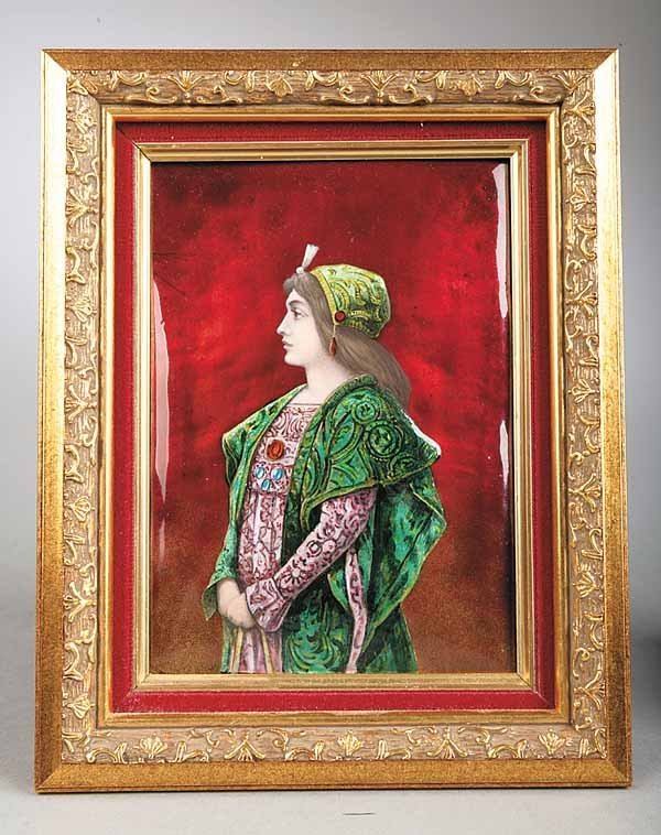 0023: Continental Enamel on Copper Portrait