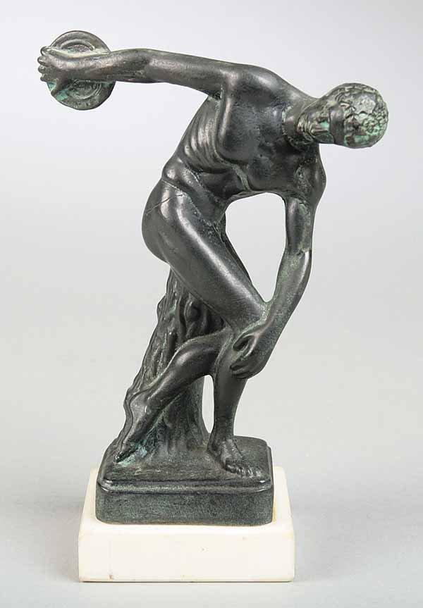 "0129: ""Grand Tour"" Bronze Figure of Discus Thrower"