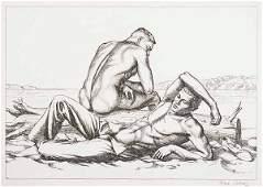 0526 Paul Cadmus Two Boys on a Beach no 2