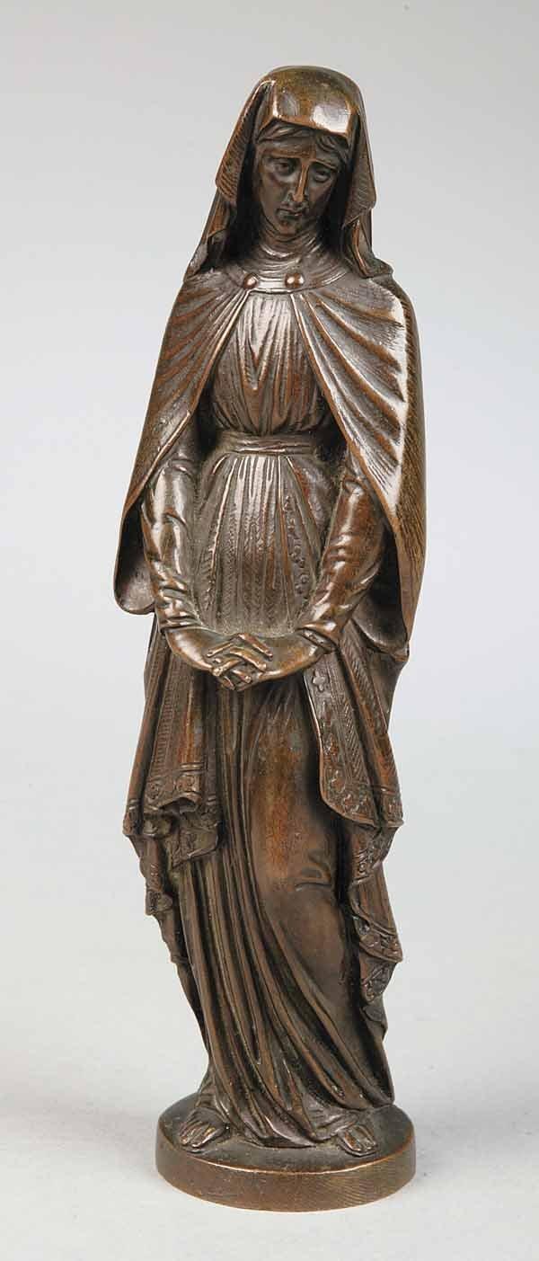 0735: Gorham Bronze Statue of the Madonna