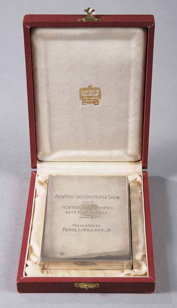 0744: Cartier Art Moderne Sterling Silver Case