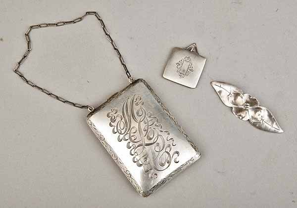 0745: Group Antique AmericSterling Silver Items