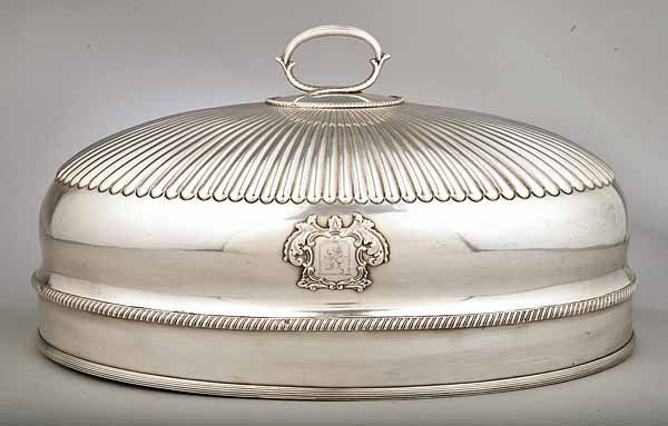 0753: Antique Georgian Sheffield Plate Dish Cover
