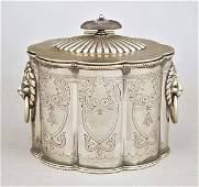 0783 GeorgianStyle Silverplate Tea Caddy