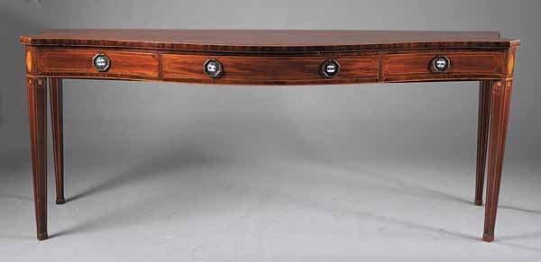 0814: George III Inlaid Mahogany Sideboard Table