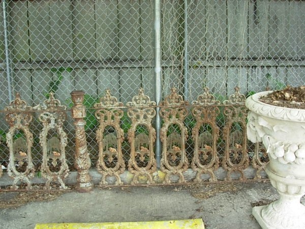 """0914: Set """"Lamb and Willow"""" Cast Iron Fencing - 7"""