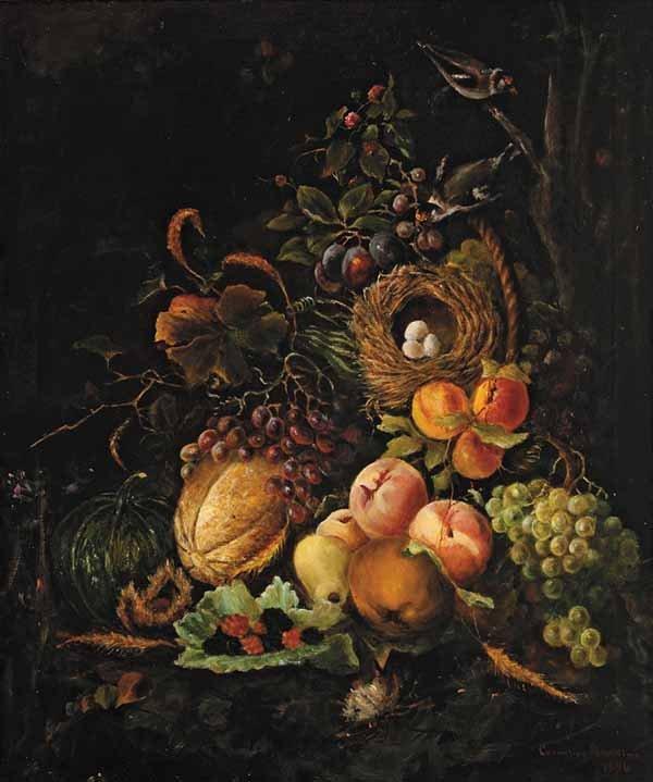 1081: Cornelius H. Hawkins, oil on canvas
