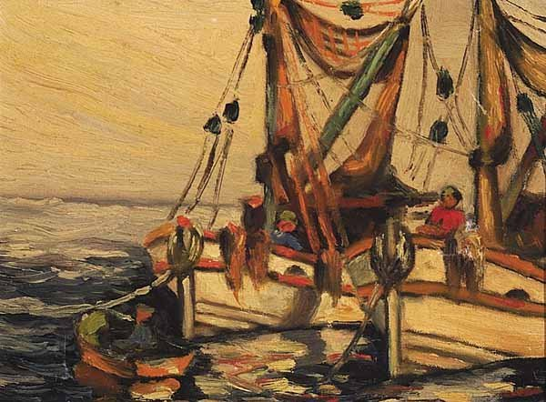 1248: Raymond Scully, oil on canvas board