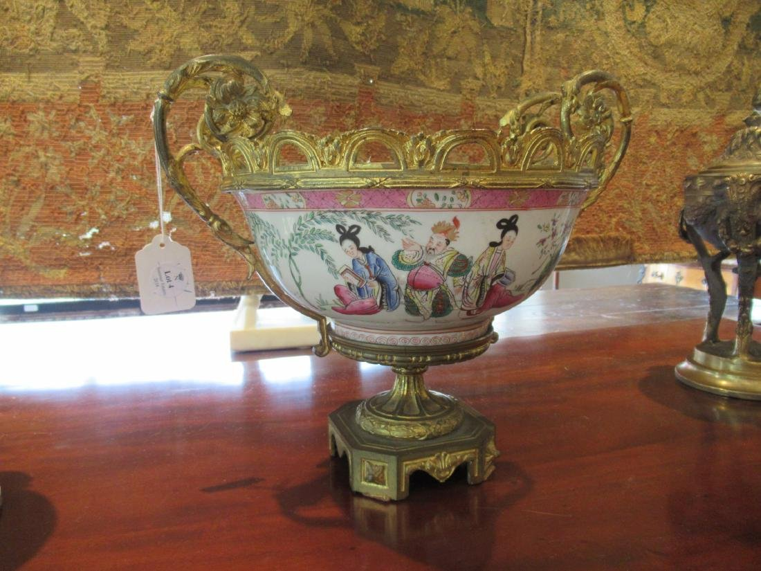 Chinese Export Famille Rose Porcelain Punch Bowl - 2
