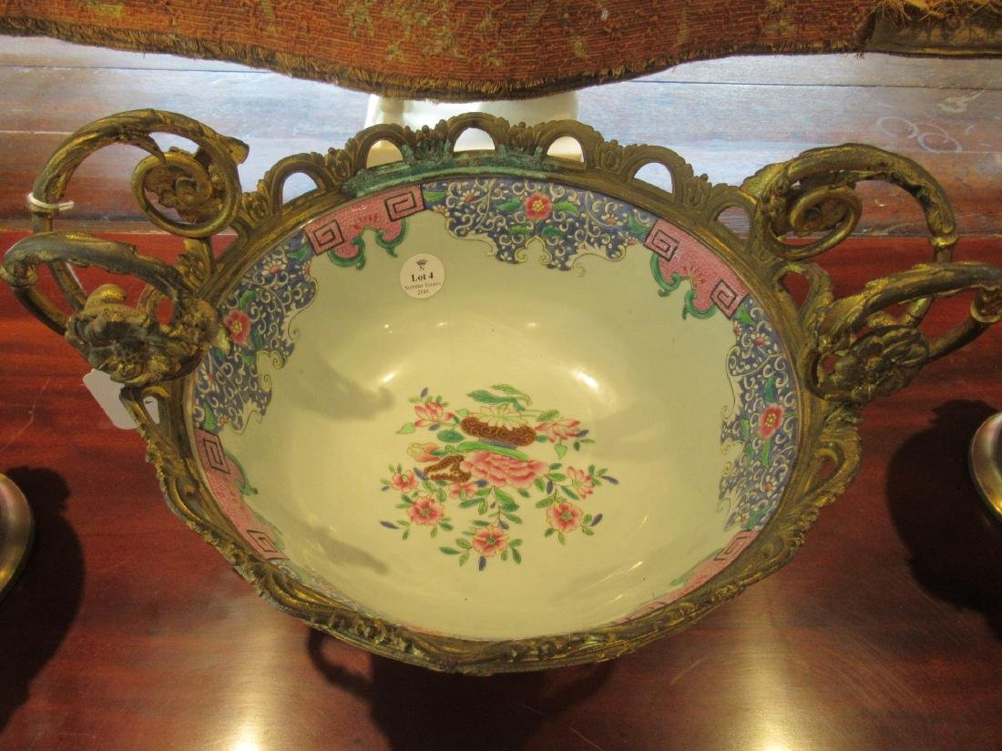 Chinese Export Famille Rose Porcelain Punch Bowl - 3