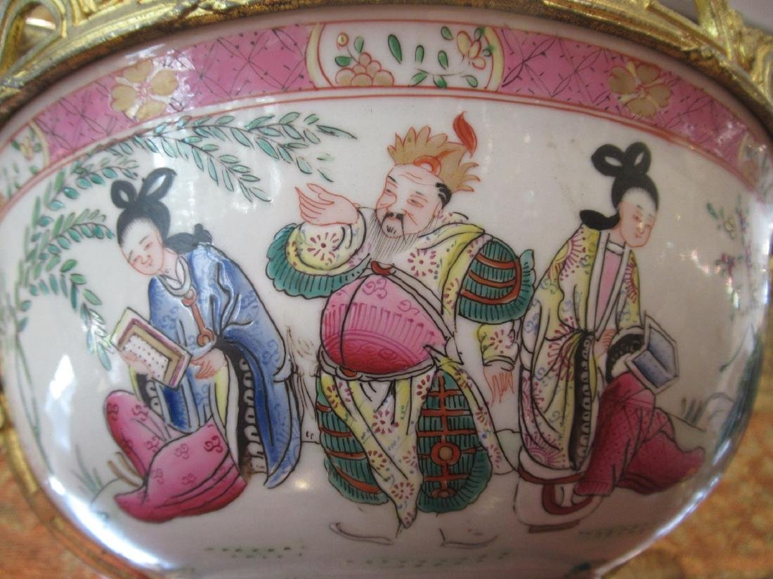 Chinese Export Famille Rose Porcelain Punch Bowl - 6
