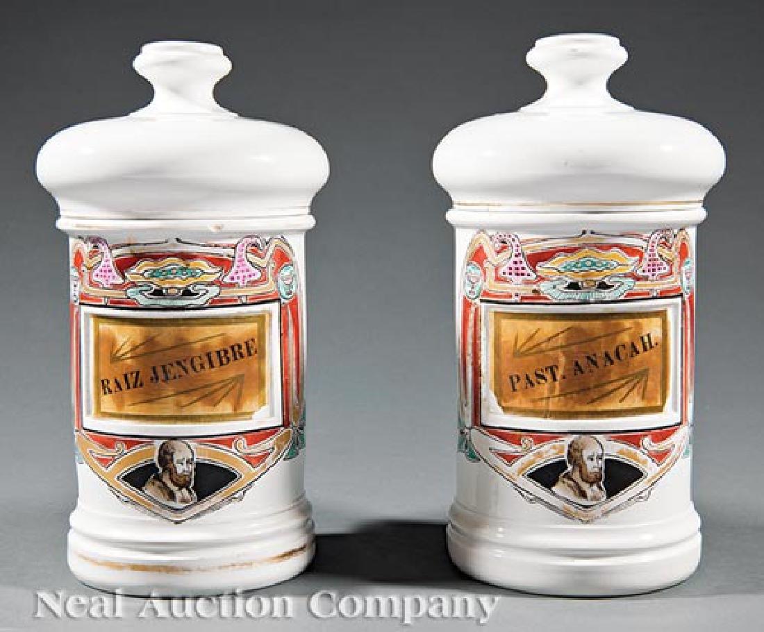 Ironstone Covered Apothecary Jars ret. La Profesa