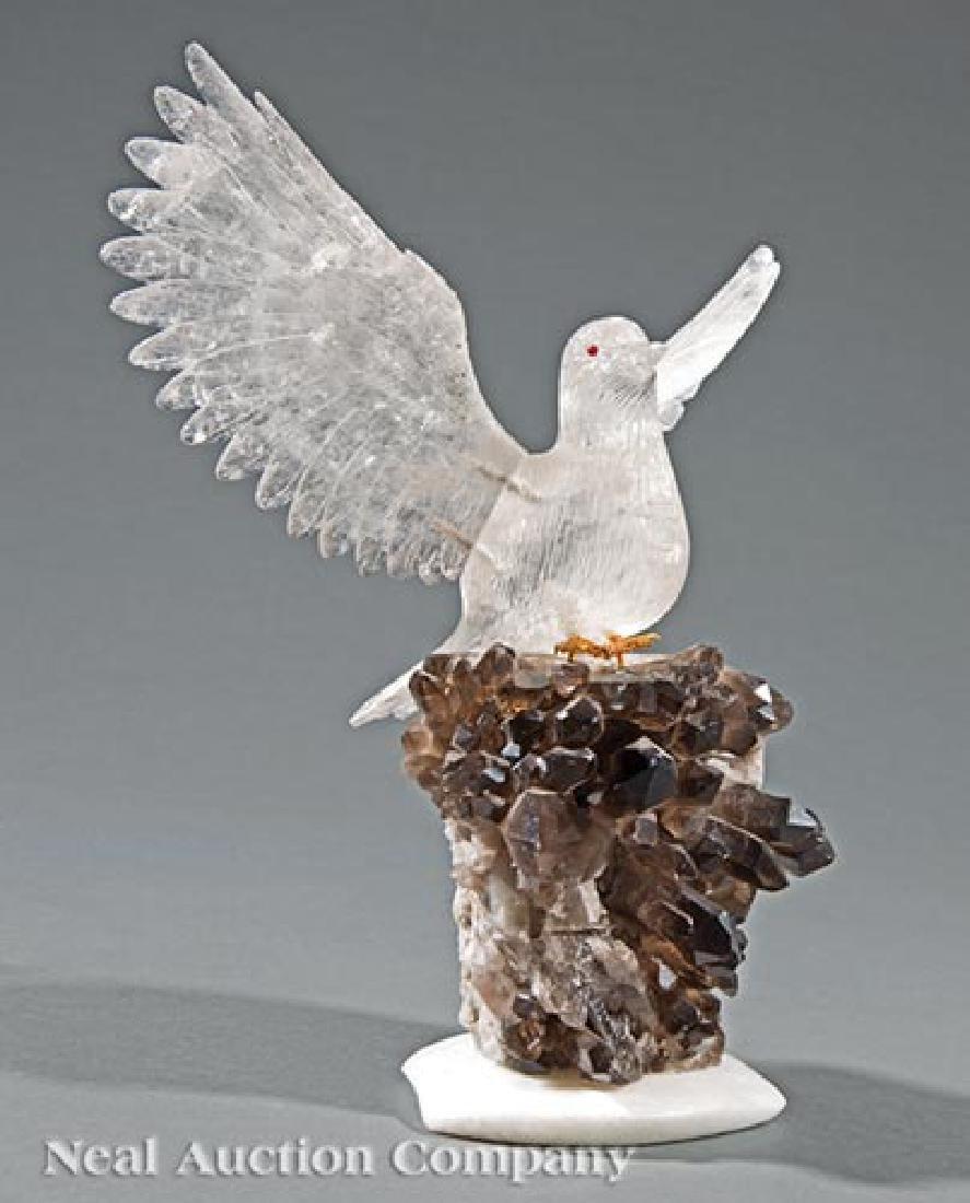 Rock Crystal Bird Figure