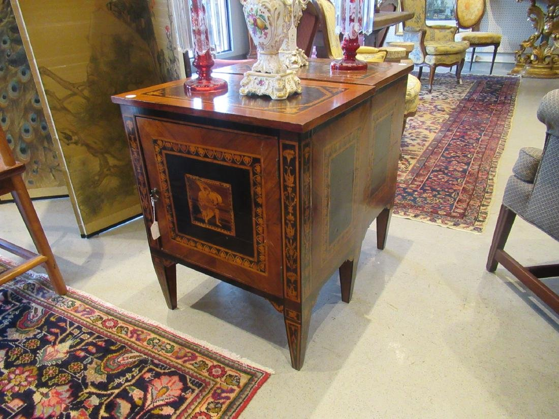 Italian Parquetry and Marquetry Petite Commodes - 2