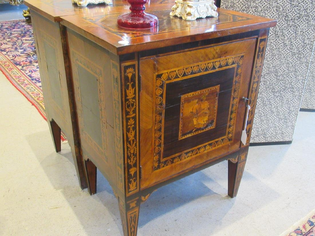 Italian Parquetry and Marquetry Petite Commodes - 3