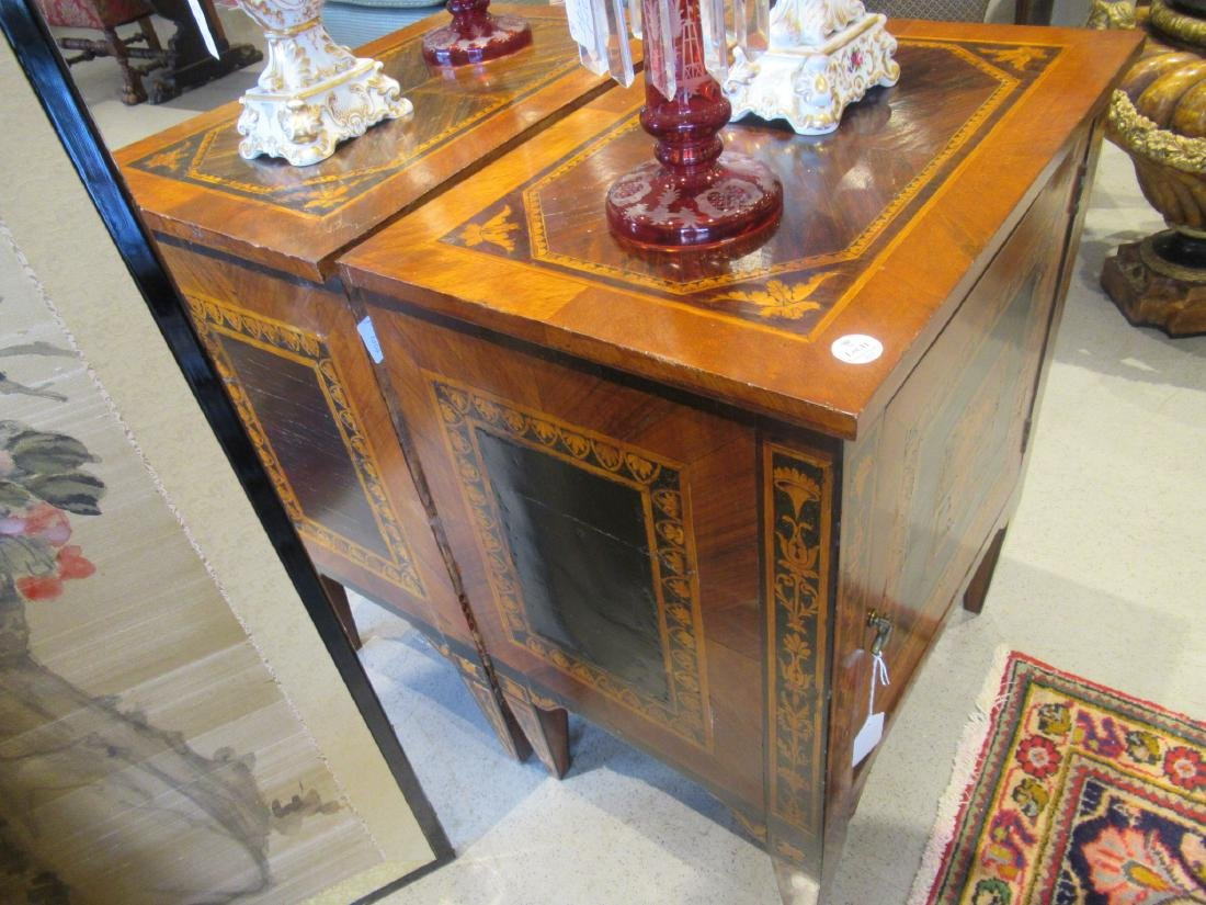Italian Parquetry and Marquetry Petite Commodes - 5