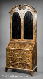 Queen Anne-Style Chinoiserie Secretary
