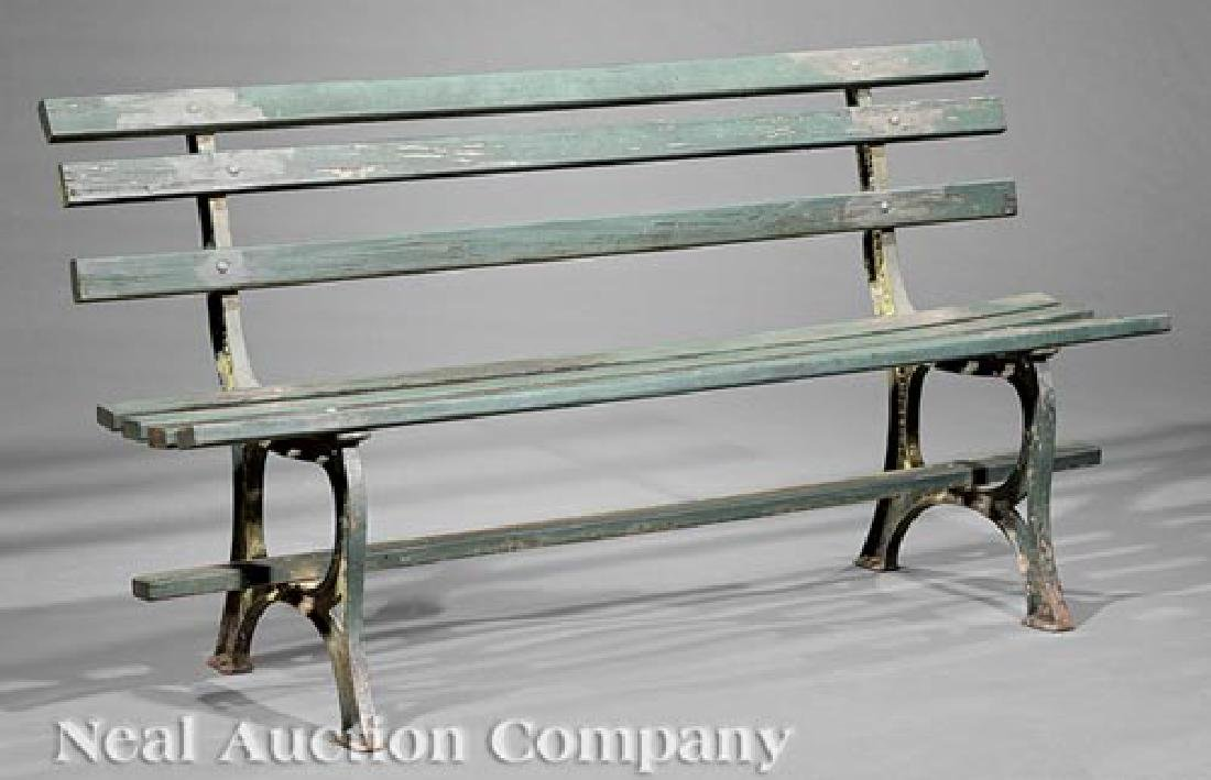 New Orleans Wood and Cast Iron Garden Bench