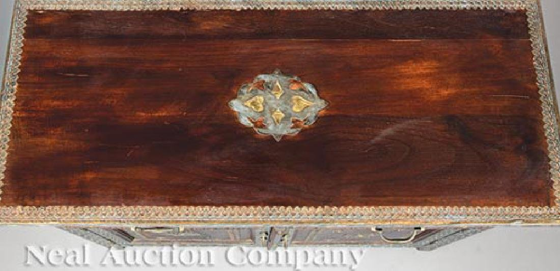 Spanish Pewter and Brass Overlay Cabinet - 4