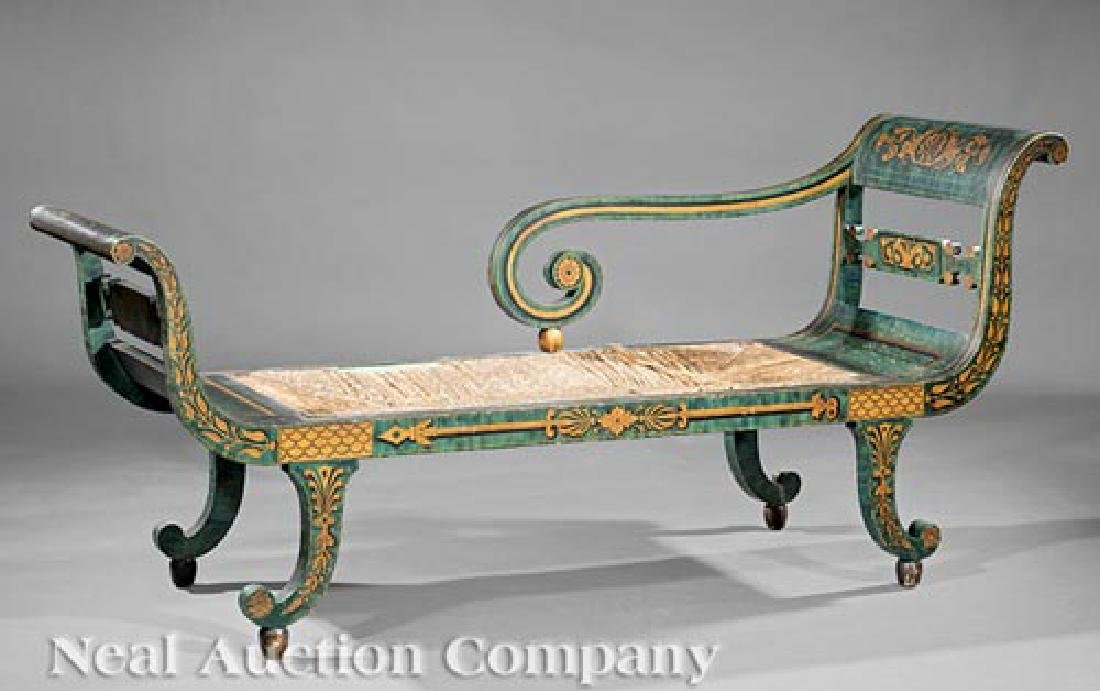 American Classical Fancy-Painted Grecian Sofa