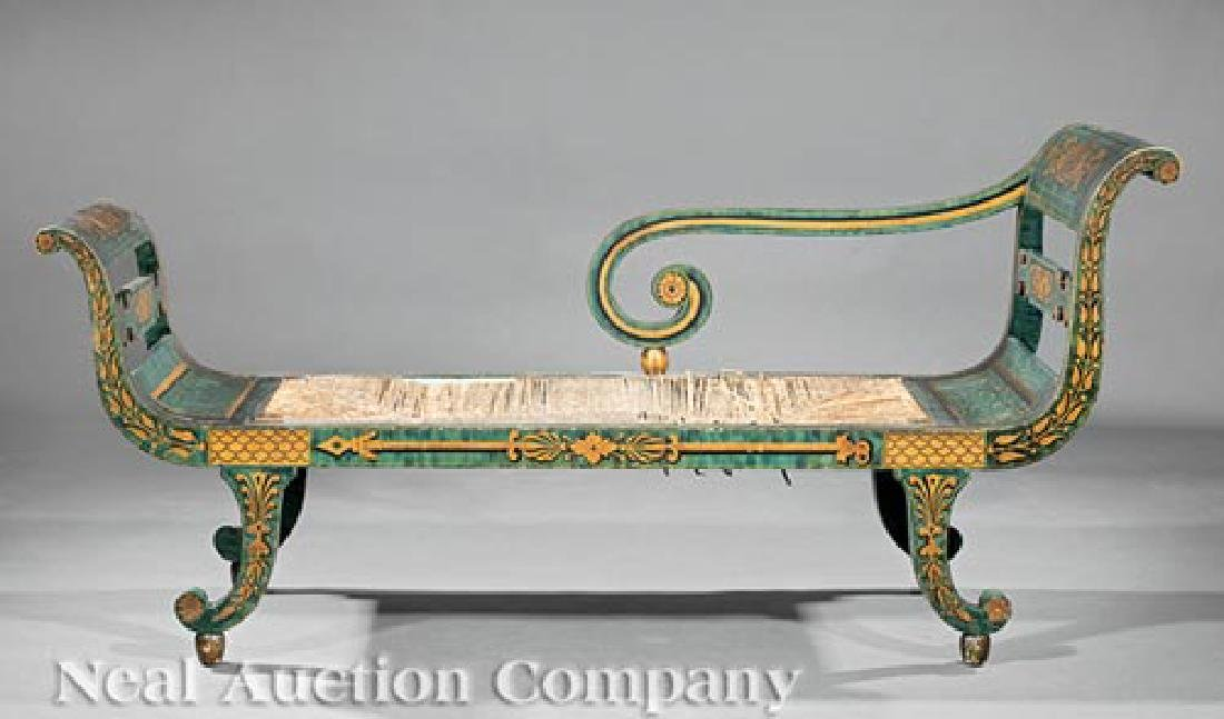 American Classical Fancy-Painted Grecian Sofa - 2