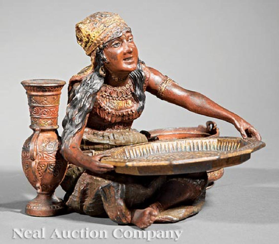 Austrian Cold-Painted Metal Figural Group - 2