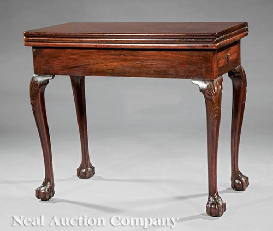 George II Carved Mahogany Triple Top Games Table