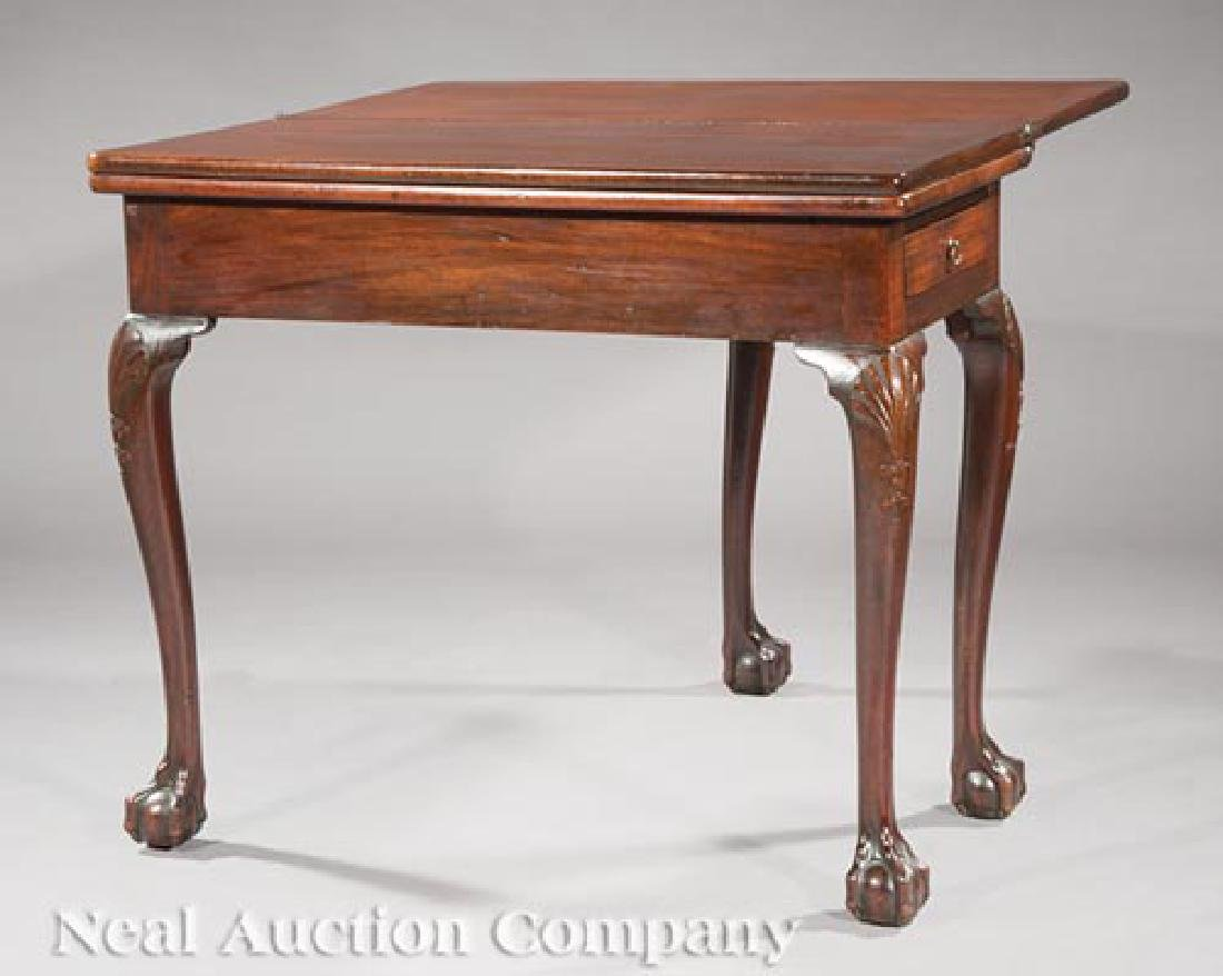 George II Carved Mahogany Triple Top Games Table - 2