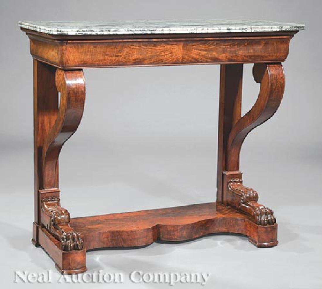 Empire Carved Mahogany Pier Table