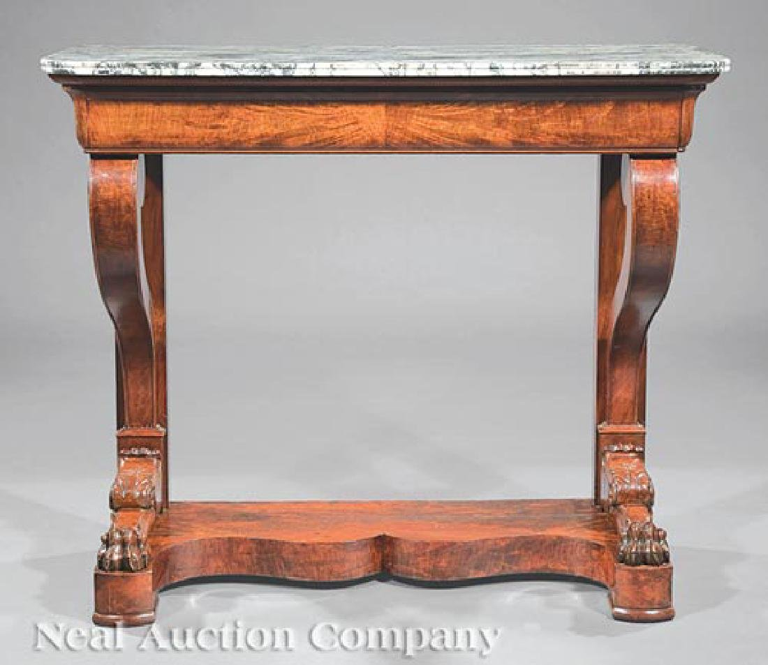 Empire Carved Mahogany Pier Table - 2