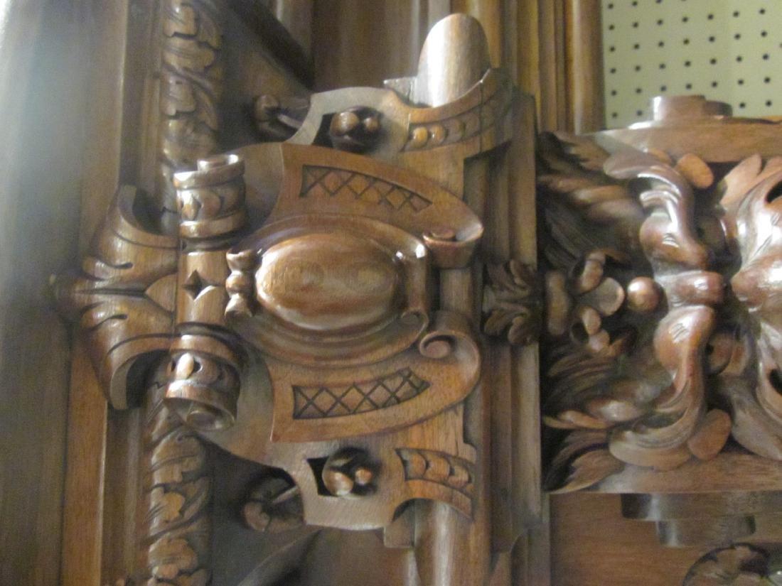 Continental Carved Walnut Mantel - 7