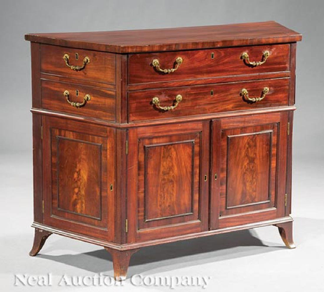 Pair of George III-Style Mahogany Commodes