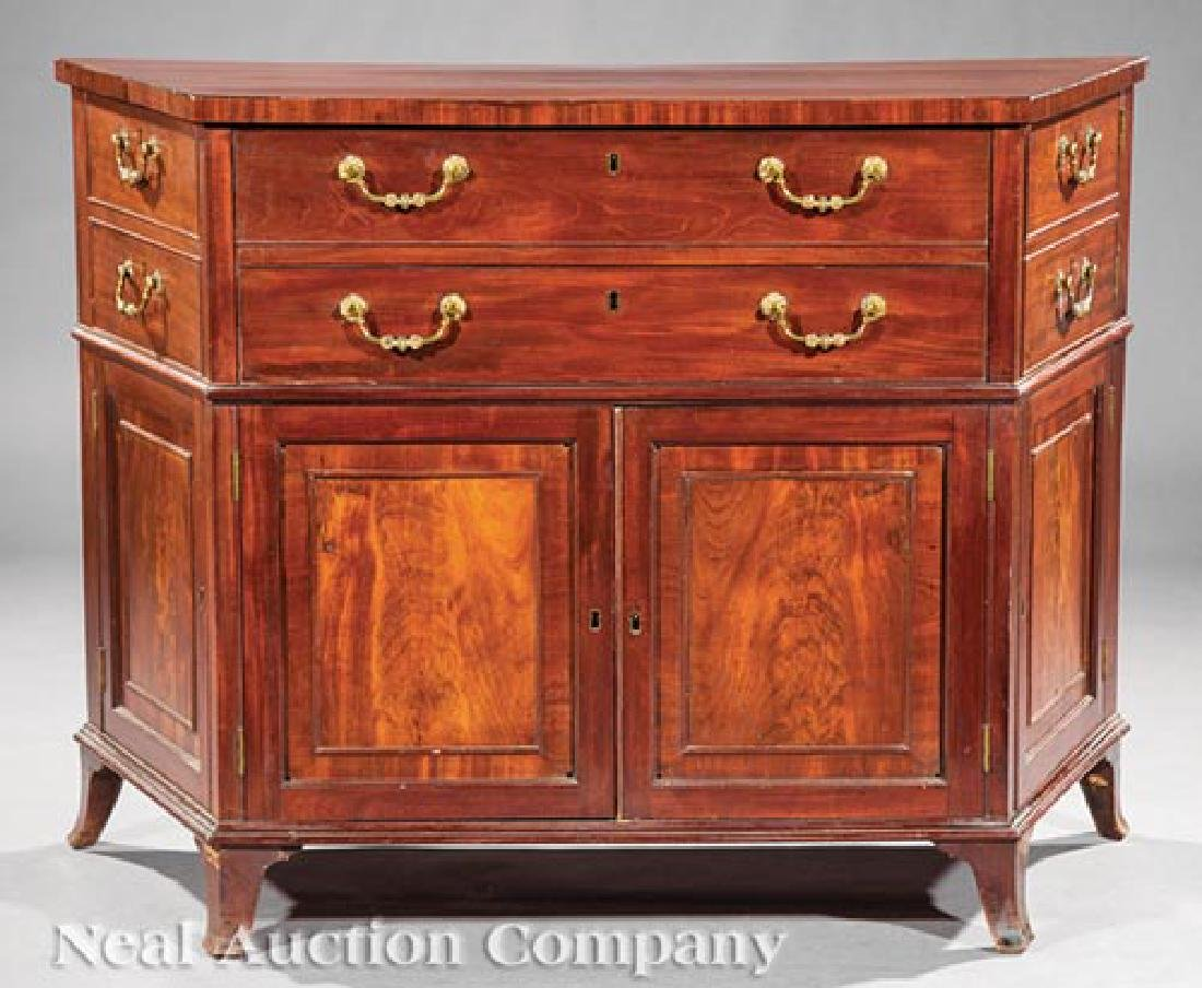 Pair of George III-Style Mahogany Commodes - 4