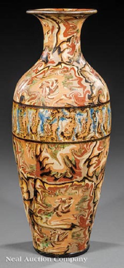 French Art Nouveau Mixed-Earth Pichon Vases - 3