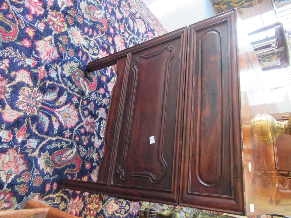 Chinese Hardwood Three-Part Pedestal Desk - 5