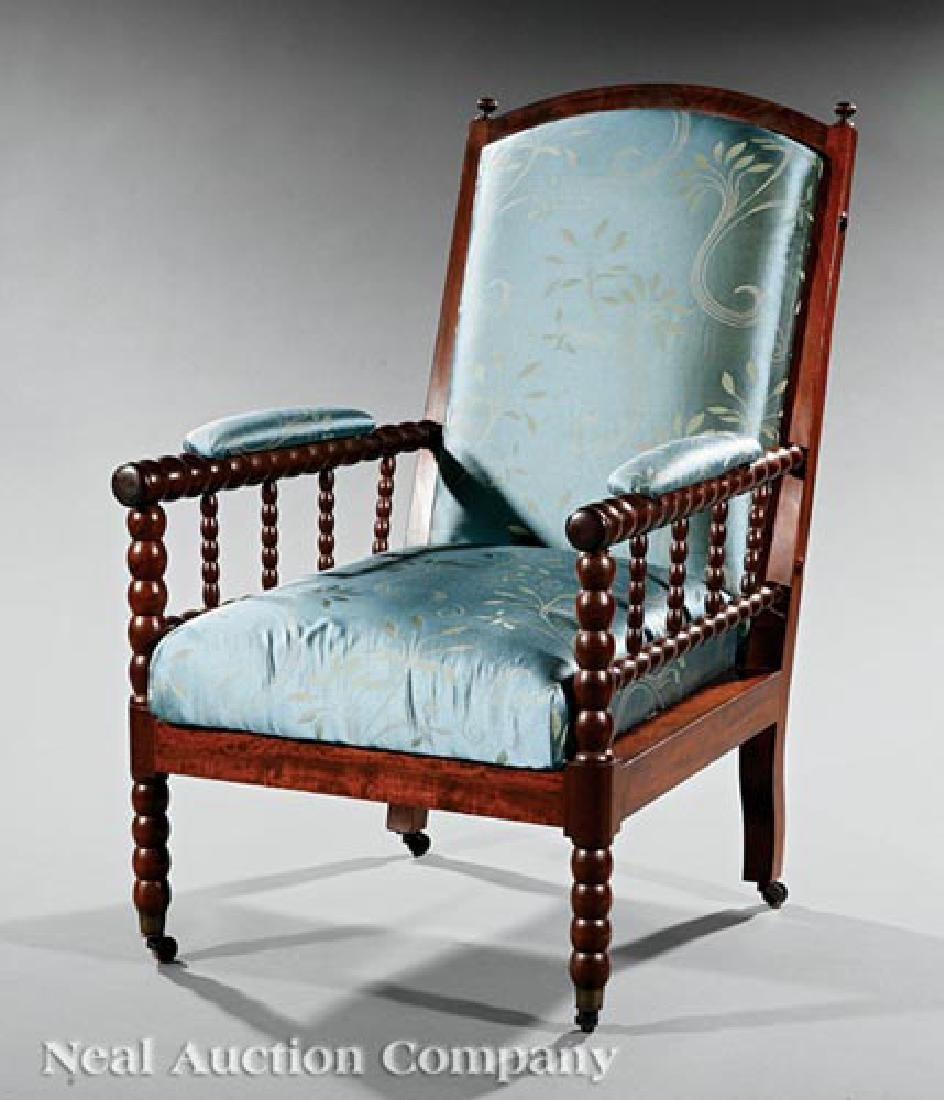 English Mahogany Library Armchair