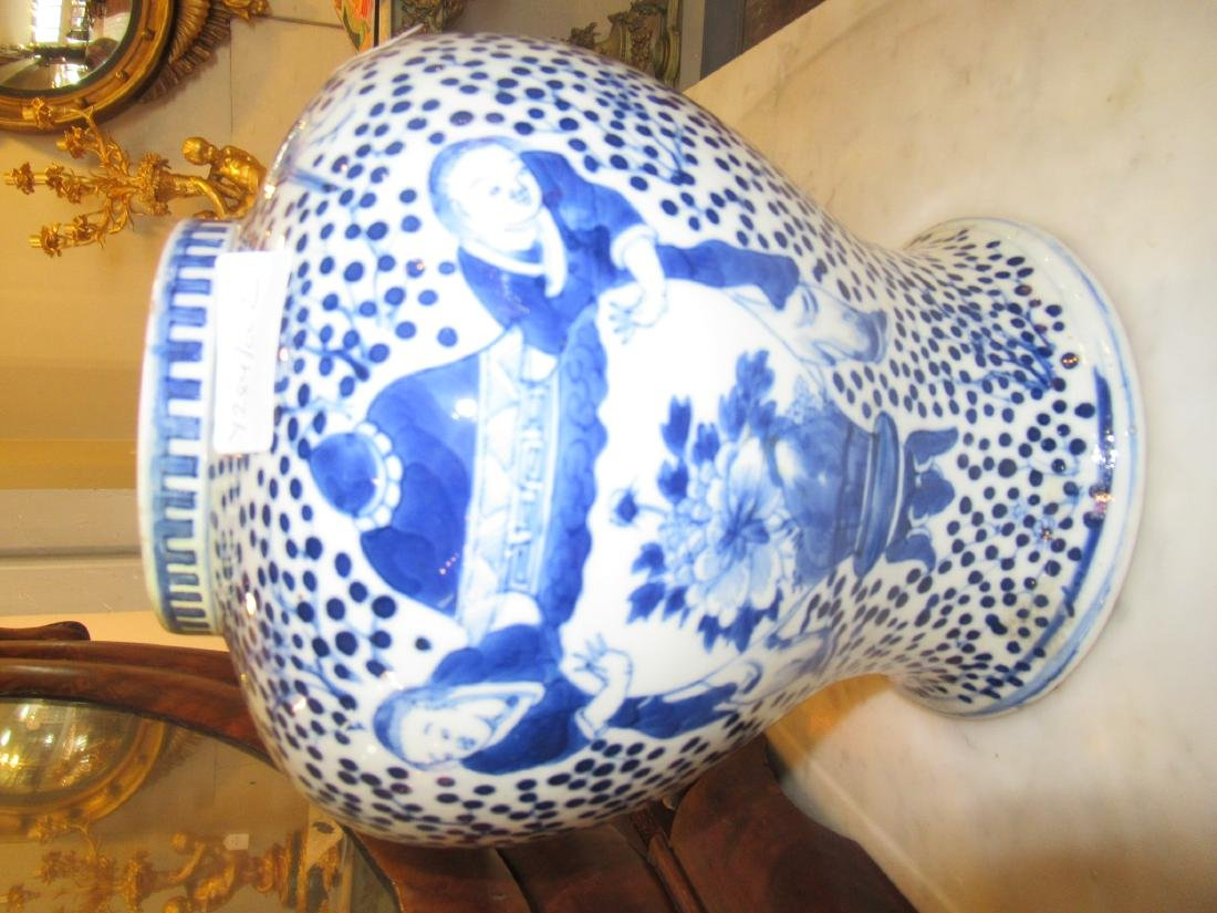 Chinese Blue and White Porcelain Covered Jar - 5