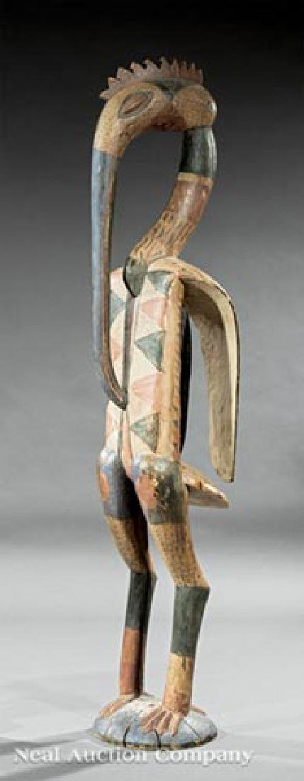 African Carved Wood Hornbill Figure