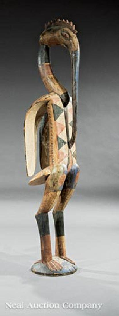 African Carved Wood Hornbill Figure - 2