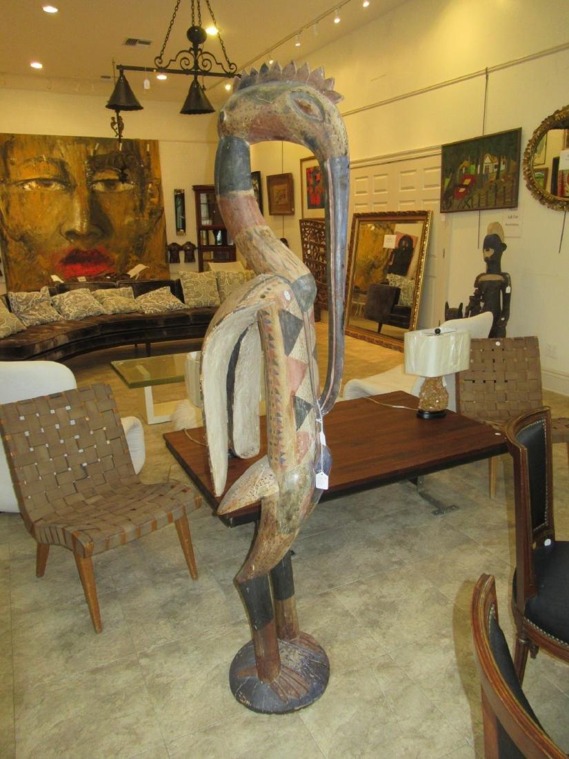 African Carved Wood Hornbill Figure - 3