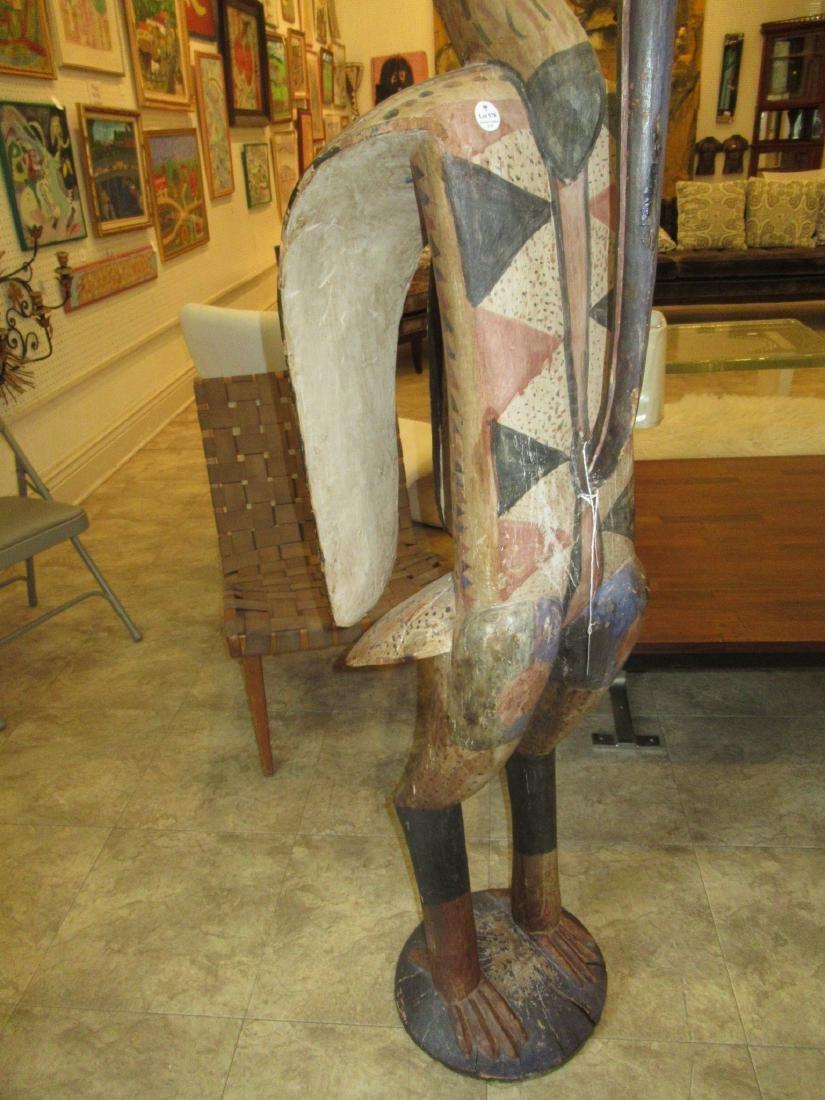 African Carved Wood Hornbill Figure - 6