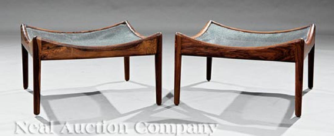 Pair of Danish Modern Rosewood Stools