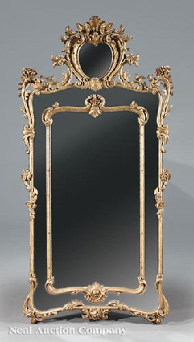 Pair of Louis XV-Style Giltwood Mirrors