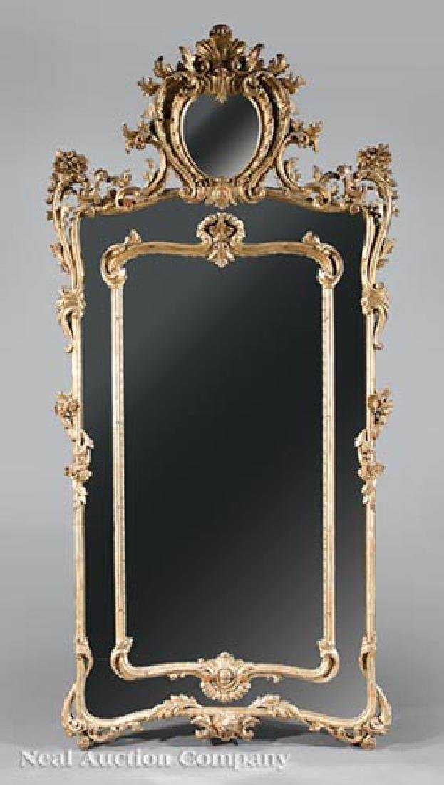 Pair of Louis XV-Style Giltwood Mirrors - 2