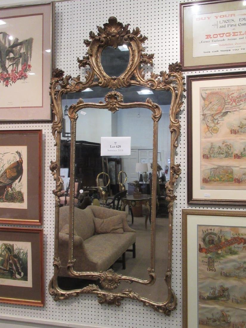 Pair of Louis XV-Style Giltwood Mirrors - 3