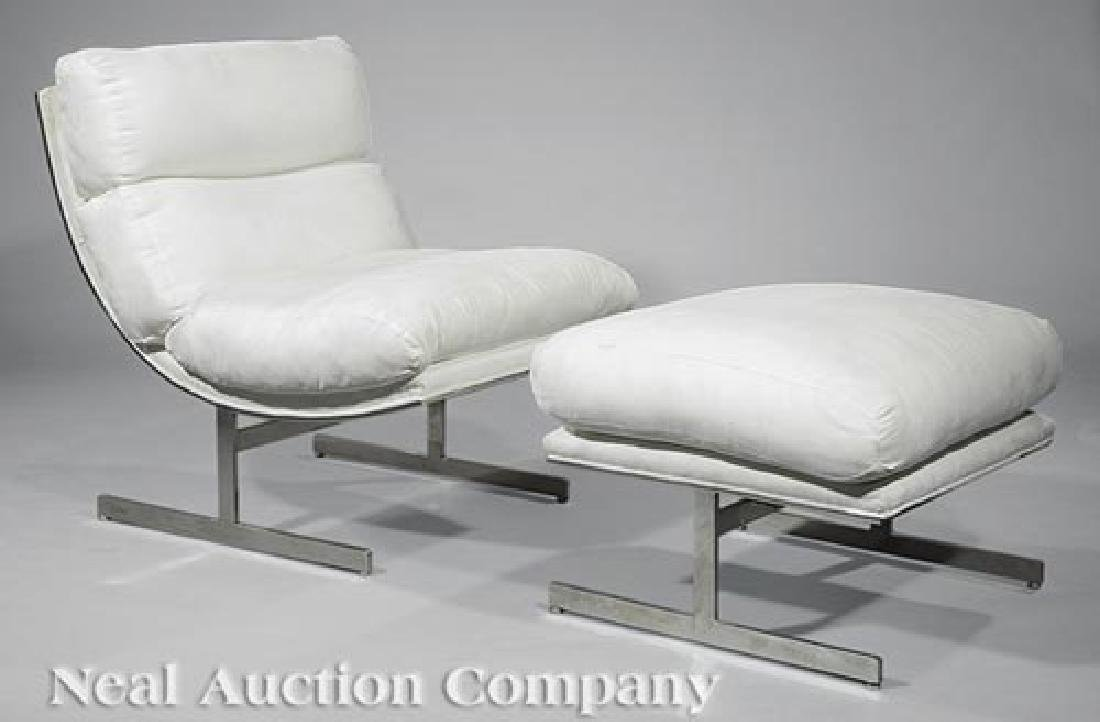 Kipp Stewart Directional Lounge Chair and Ottoman