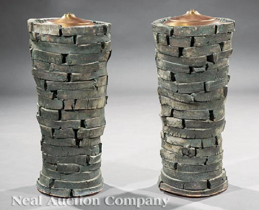 Peter Lane Glazed Stoneware Table Lamps
