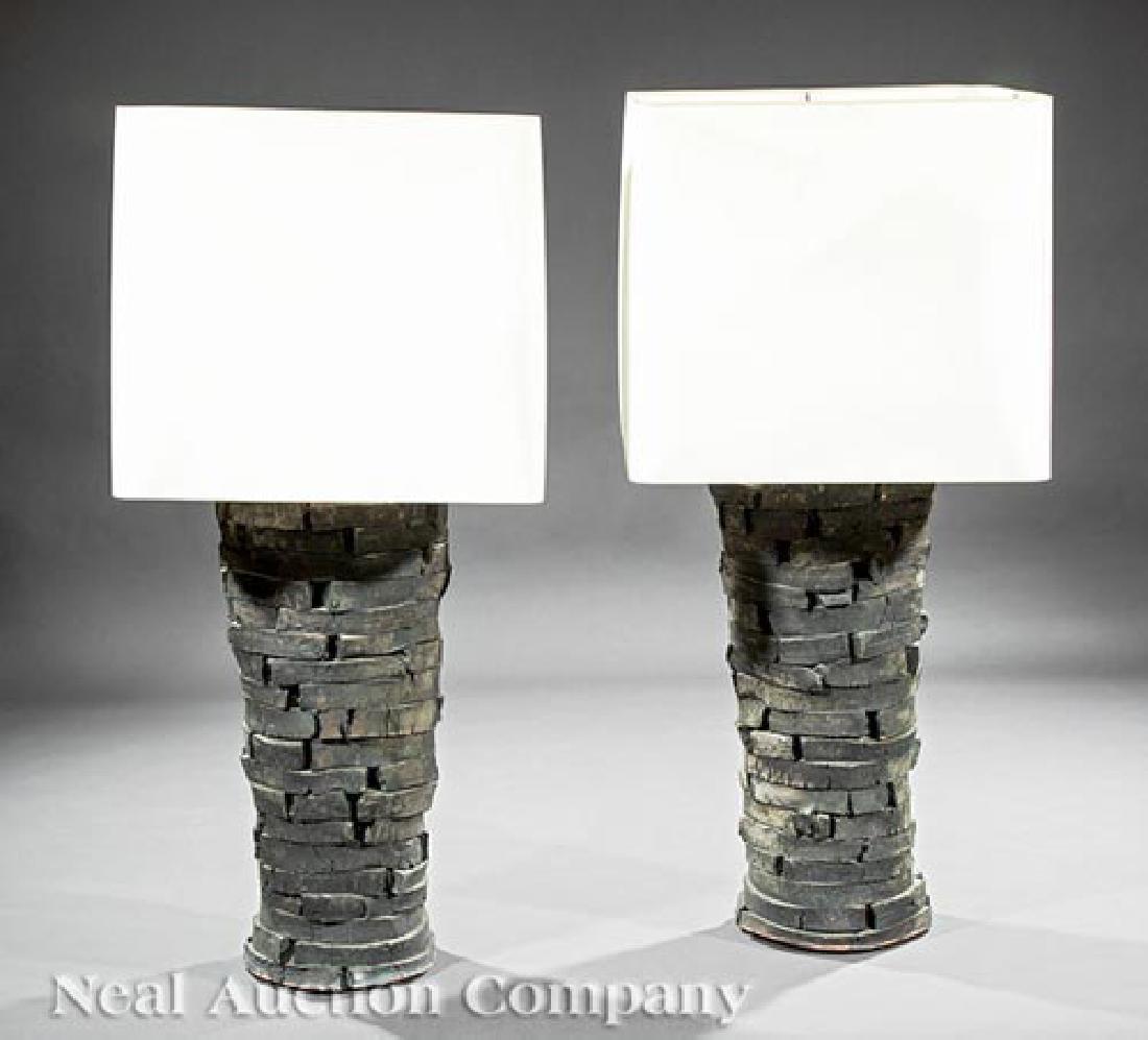 Peter Lane Glazed Stoneware Table Lamps - 3
