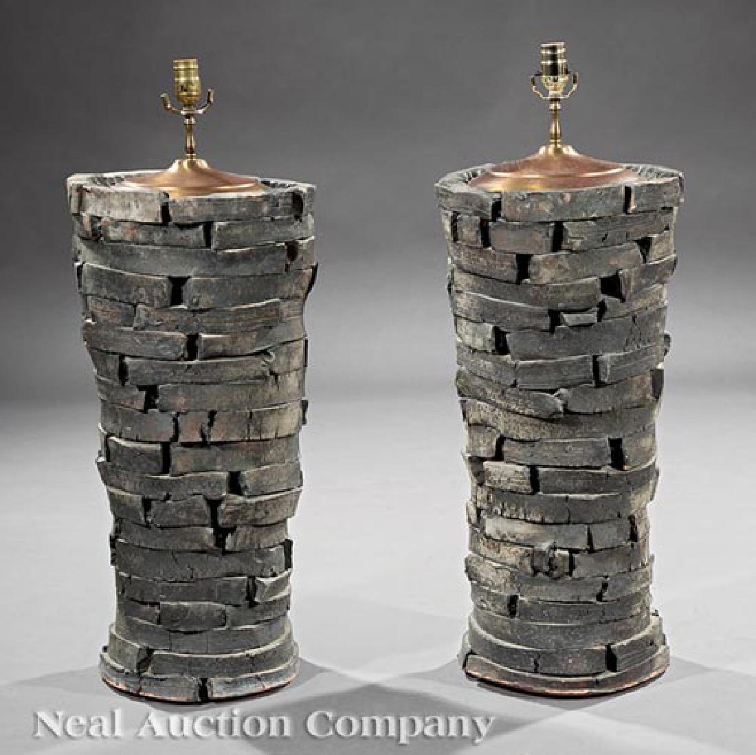 Peter Lane Glazed Stoneware Table Lamps - 4