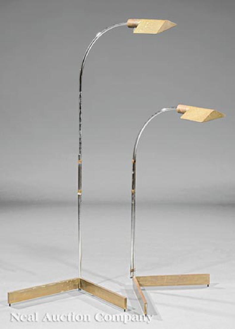 Cedric Hartma Brass and Steel Floor Lamps